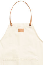 Cotton Twill Apron - Natural white - Home All | H&M CA 2